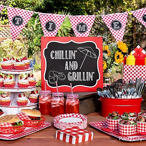 Gingham Picnic Food and Drink Ideas - Party City