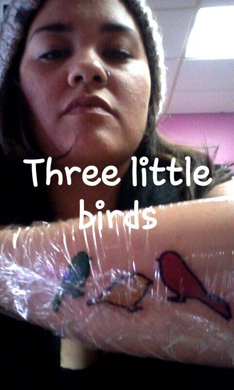 #threelittlebirds #rastatattoo #smiledattherisingsun #threelittlebirdstattoo #bobmarleytattoo #3littlebirds