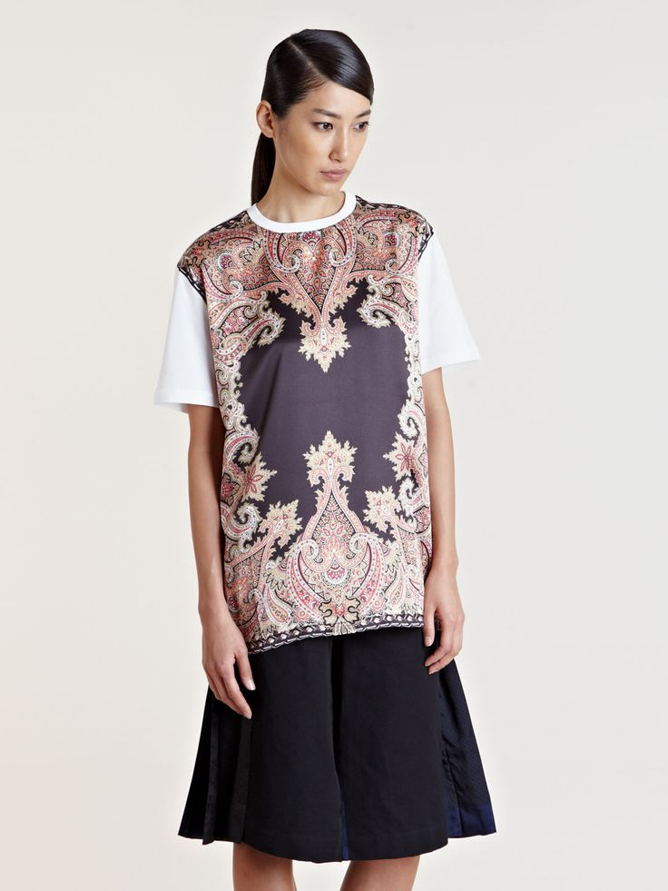 Givenchy Womens Patterned Body T-shirt