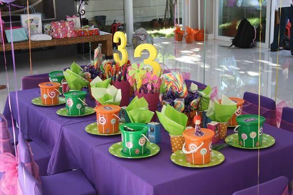 Kids table decoration #willywonkaparty
