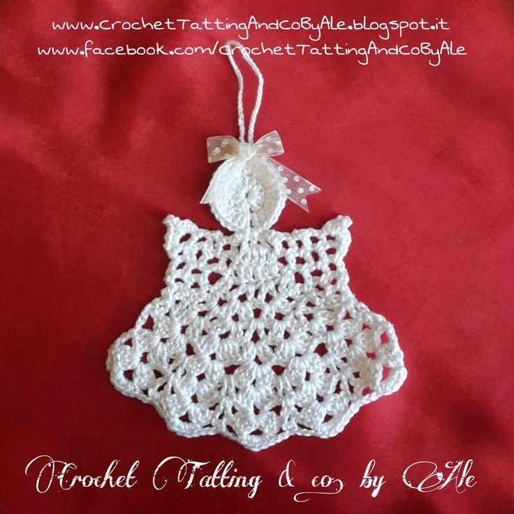 Angioletto a uncinetto, Decorazione Natalizia : Accessori casa di crochet-tatting-and-co-by-ale