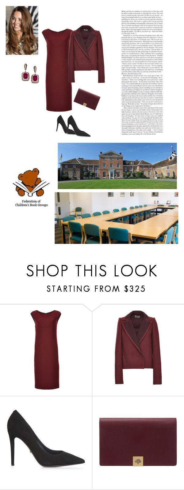 """""""Surprise Appearance for the Federation of Children's Book Groups' Conference 2017: """"Write Around the World: Broadening Horizons"""" at the Oratory School, Reading"""" by theduchessroyal ❤ liked on Polyvore featuring Zac Posen, Diane Von Furstenberg and Mulberry"""