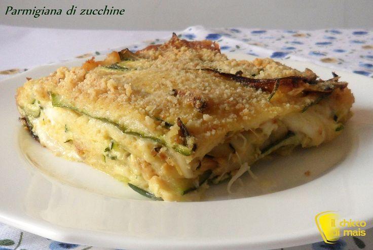 Parmigiana di zucchine in bianco ricetta vegetariana il chicco di mais