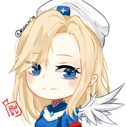 Mercy Chibi by Rosuchi deviantart com on @DeviantArt