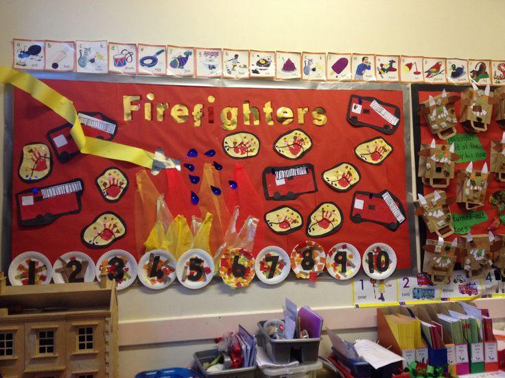 Classroom Decorating Ideas Elementary ~ Firefighter display using little poem art