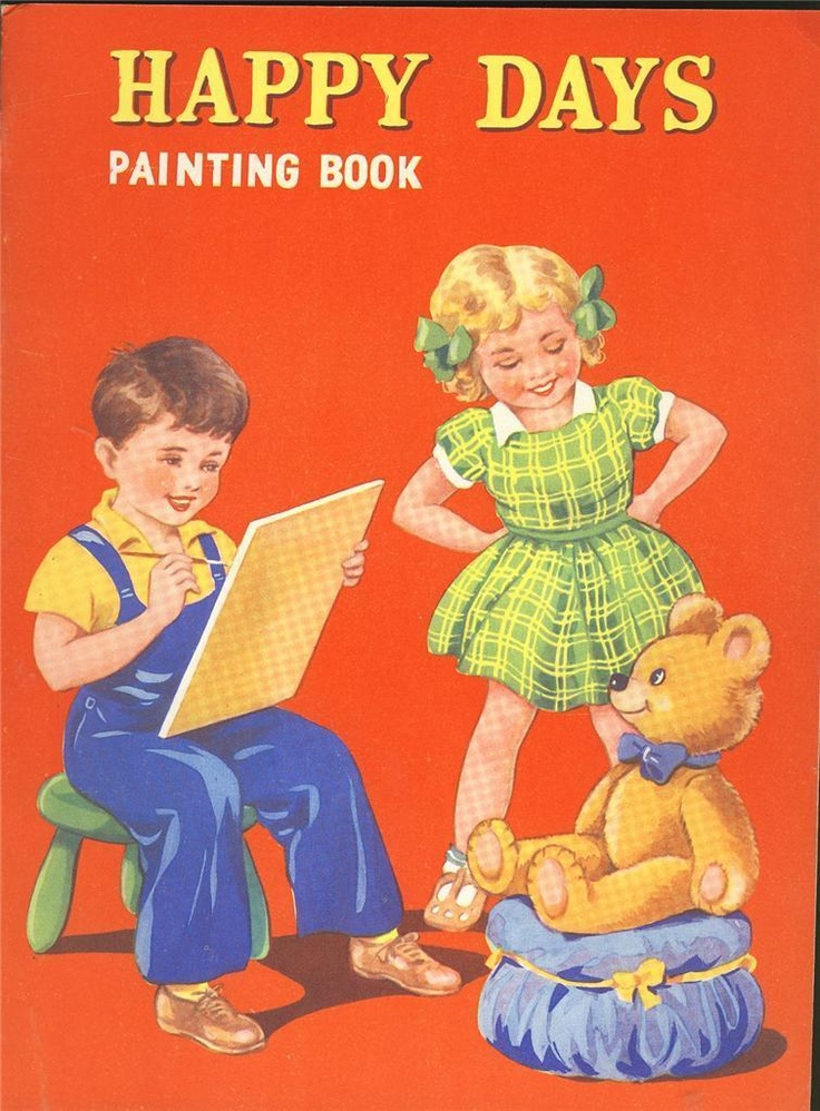 1940s Happy Days Painting Book