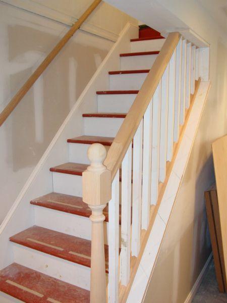 stair railing ideas cook bros 1 design build remodeling rh pinterest com Painting Basement Stairs Ideas Finish Basement Stairs Ideas