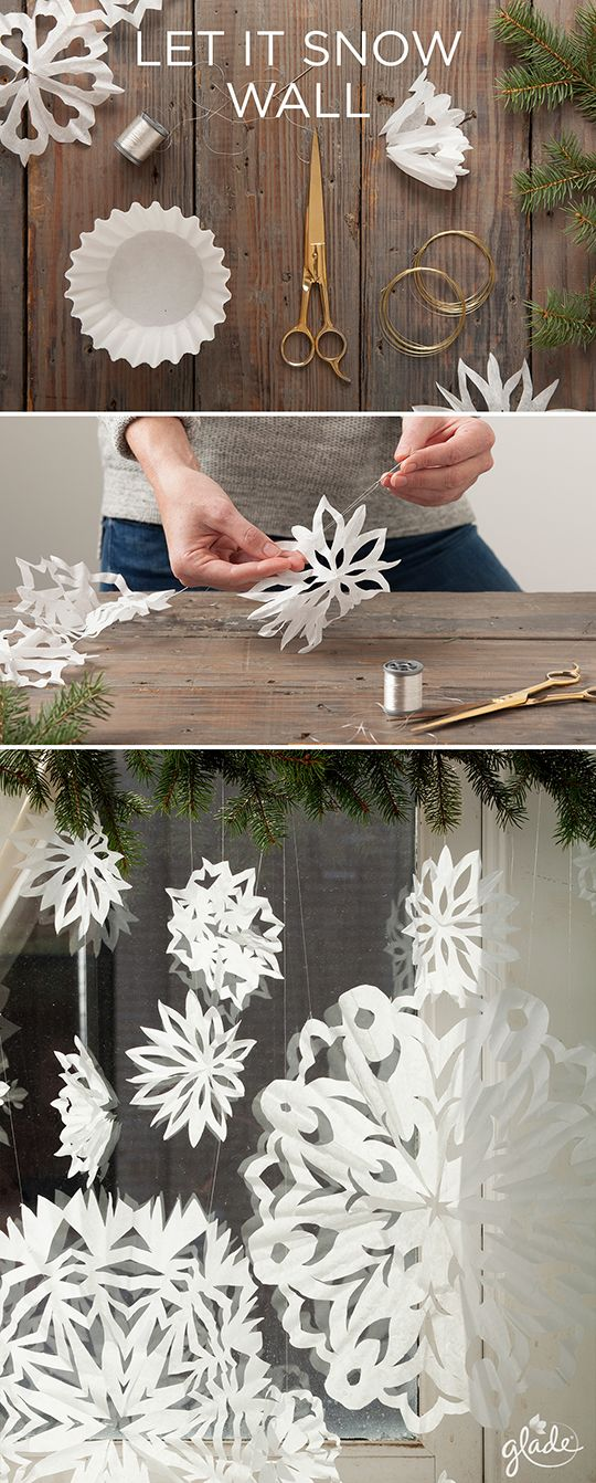 Surprise holiday guests with joy in the form of delicate paper snowflakes. All you need is some coffee filters and a little dexterity. Discover how to make this and other joyful crafts to help share the joy of the season. Feel Joy. Feel Glade.