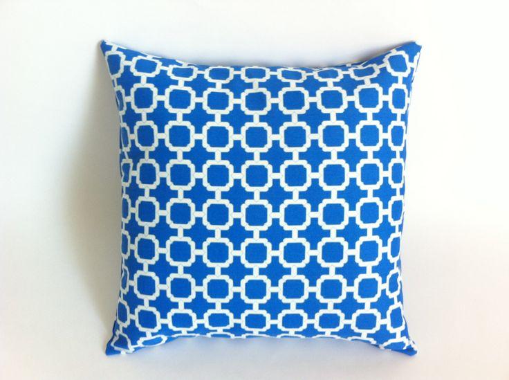 Bright Cobalt Blue Pillow Decorative Throw Pillow by Pillomatic, $17.00