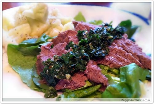 Skirt Steak with Chimichurri Sauce | Low Carb | Pinterest