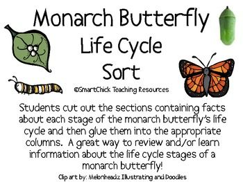A six page packet of a Monarch Butterfly Life Cycle sort project. Students cut out the boxes and then glue them into the appropriate column for ea...: Sorting Packets, Lady Butterflies, Butterflies Life Cycling, Cycling Sorting, Students Cut, Life Cycles, Appropriate Columns, Paintings Lady, Sorting Projects