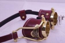 Steampunk Victorian Goth Industrial Goggles LARP Brown