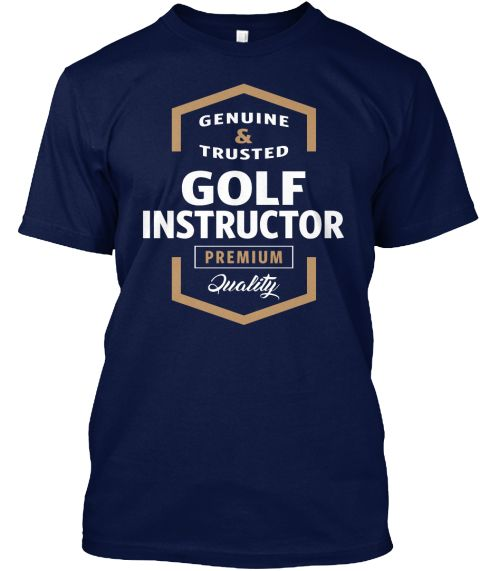 Golf Instructor | Gift T Shirt Navy T-Shirt Front