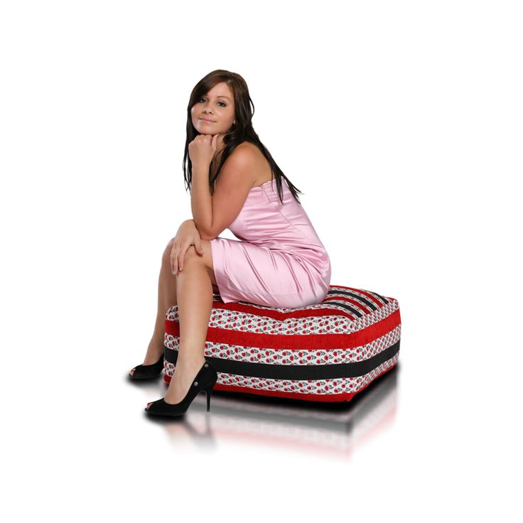 Cubo Premium Cubo Floral Bean Bag Chair