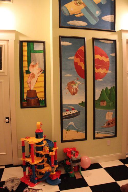 triptico mural habitacion infantil