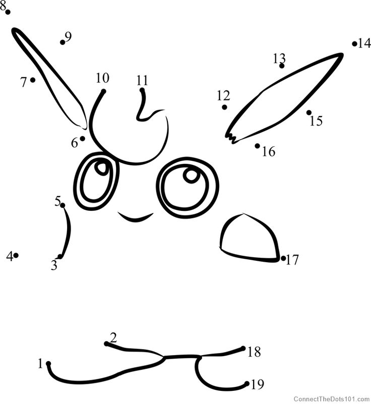 Download or print Wigglytuff Pokemon GO dot to dot printable worksheet from Video-Games,Pokémon-GO connect the dots category.