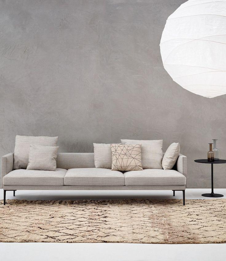 Design compatto, soffice imbottitura Arper presenta Steeve, sistema modulare di panche, poltrone e divani. Design Jean-Marie Massaud @arperspa