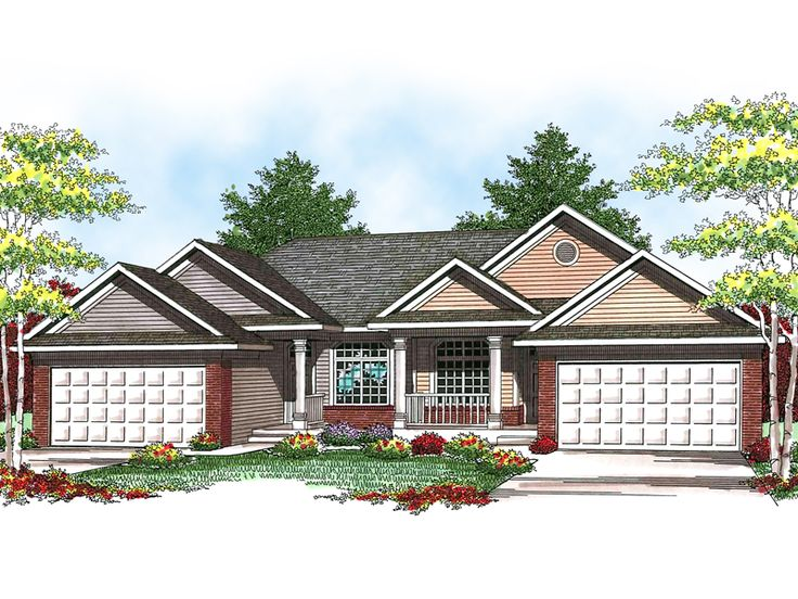 24 best images about duplex single story ranch homes on for House plans and more com home plans