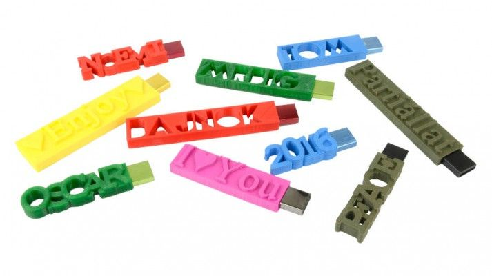 3D printed personalized USB sticks