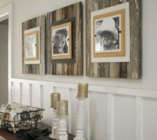 Reclaimed Wood Frame - Large  $110.00 | Iron Accents