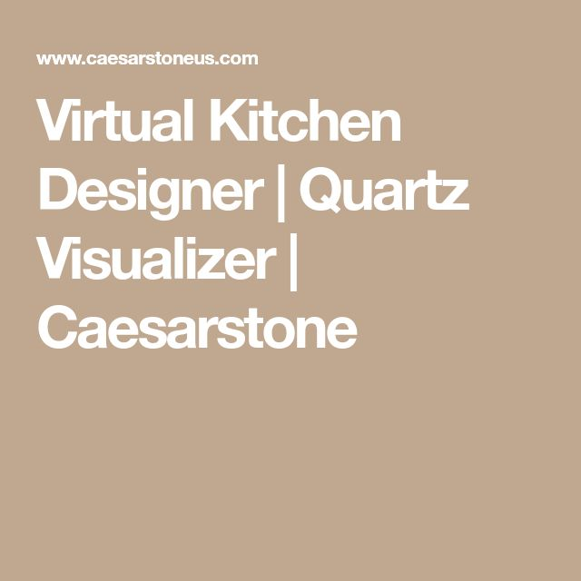 Virtual Kitchen Designer | Quartz Visualizer | Caesarstone