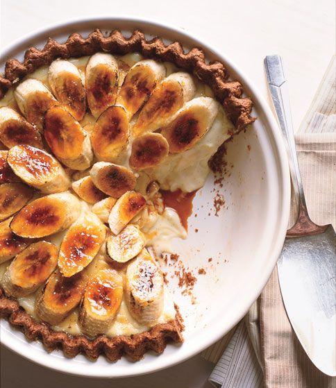 Banana Cream Pie with Chocolate Crust