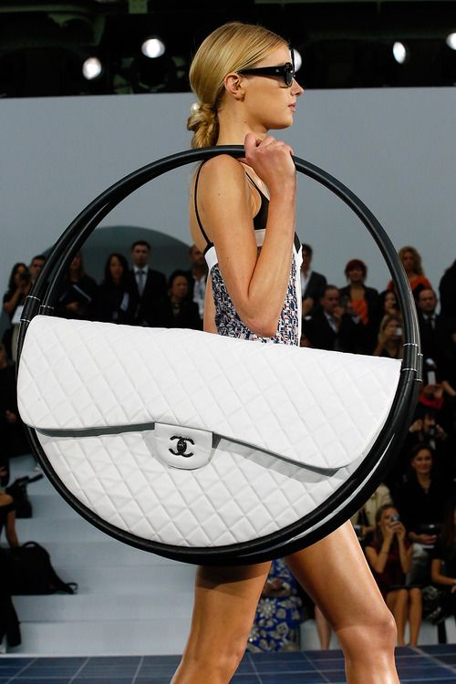 CHANEL S/S 13 #PFW If I had to carry a purse like this to be cool, then I'd just be un cool,
