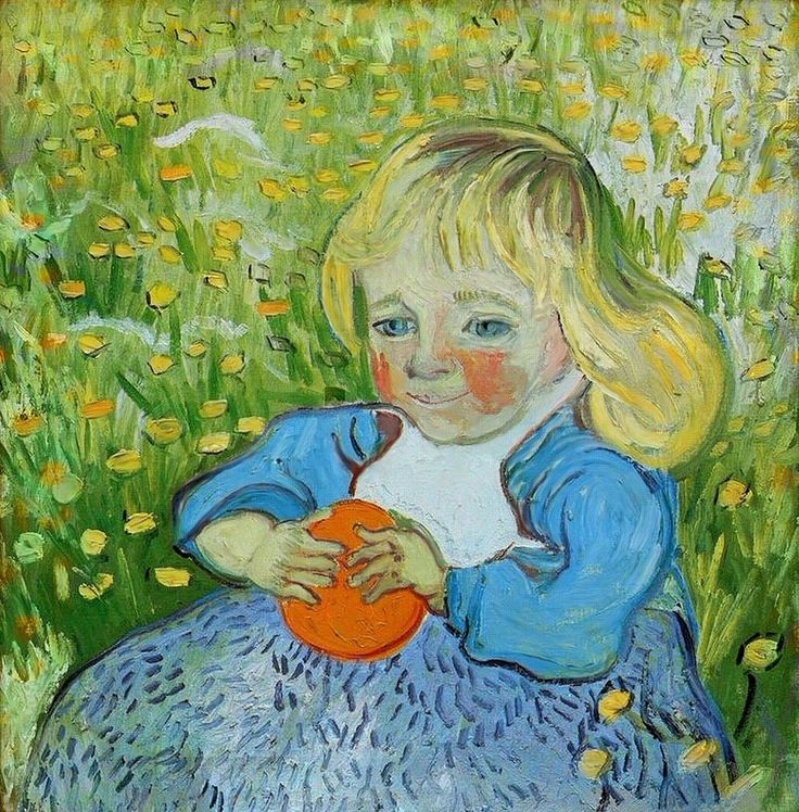 Van Gogh, Child with Orange, June 1890. Oil on canvas, 50 x 51 cm. Private collection.