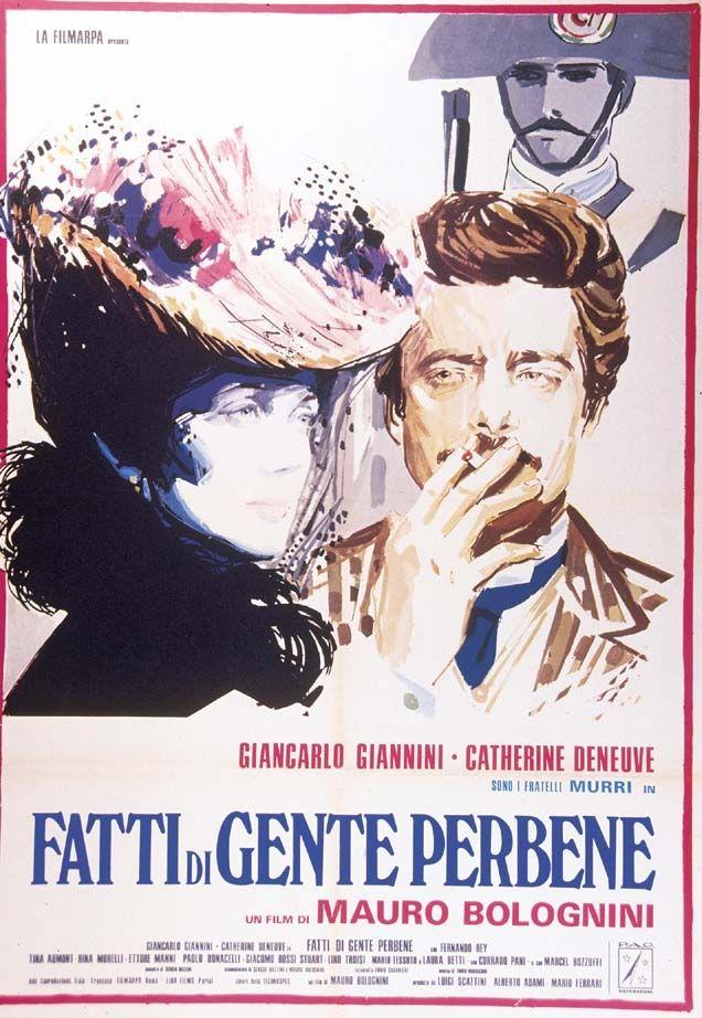Fatti di gente perbene, 1974 Italy , by Mauro Bolognini .  Tullio Murri ( Giancarlo Giannini 32-y) and his sister Linda Murri Bonmartini (Catherine Deneuve 31-y)