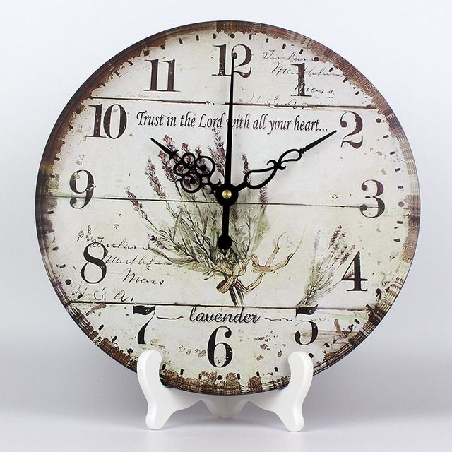 Buy now wholesale Mediterranean style home decoration desk table watch vintage home mute decorative clocks to wall best gift just only $16.33 with free shipping worldwide  #clocks Plese click on picture to see our special price for you