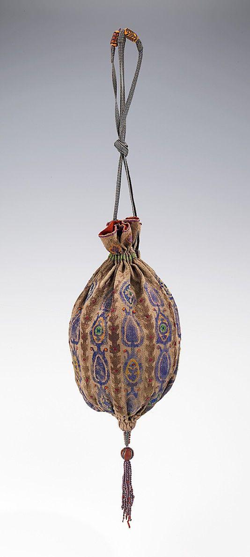 Bag (Pouch), Evening Ethel L. Wilson Hughes Date: ca. 1930 Culture: American Medium: silk, glass