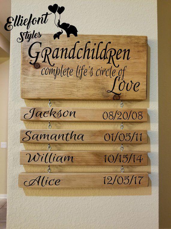 Grandchildren Complete Life S Circle Of Love Wooden Hanging Sign