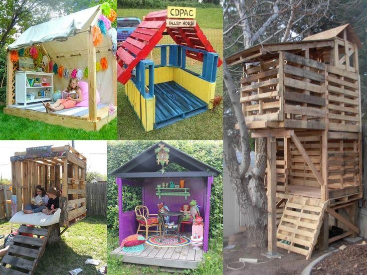 casas de palets para niños