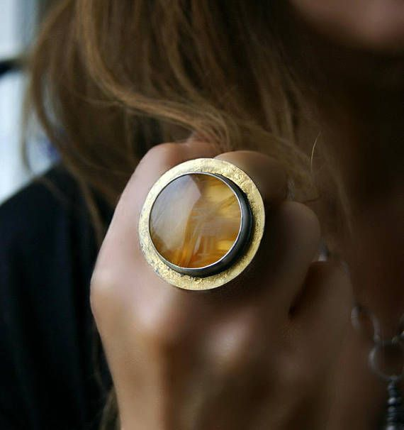 Source of the Power Sagenitic Agate Sterling Silver Ring
