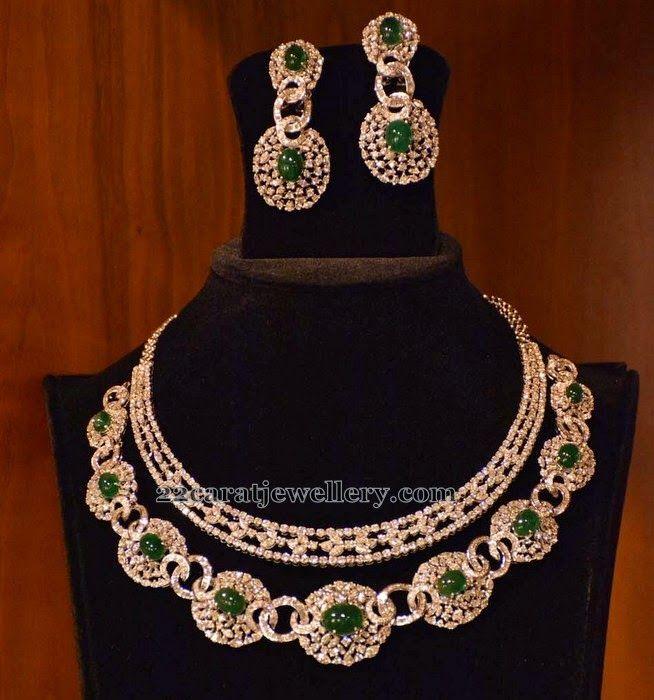 Jewellery Designs: Diamond Set by Ambar Parridi