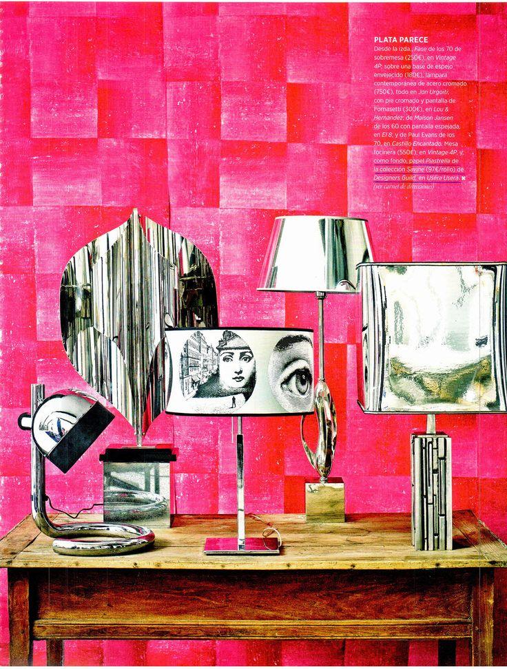 Designers guild piastrella wallpaper as seen in architectural digest spain lamps pinterest - Designers guild espana ...