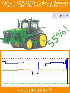 Schuco - SCHU25685 - Véhicule Miniature - Tracteur John Deere 8RT - Echelle 1 / 87 (Jouet). Réduction de 55%! Prix actuel 11,64 €, l'ancien prix était de 25,98 €. https://www.adquisitio.fr/schuco/schu25685-v%C3%A9hicule