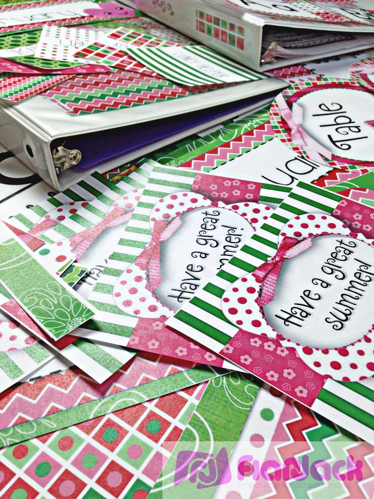Watermelon Color Scheme Classroom Decor Pack - a merge of pink and green tones. Includes: Materials, Decorations, Bulletin Board Display, Student Job Cards, Grouping Cards, Binder Covers, Alphabet and Cursive Posters, Number Posters, Labels, Name Tags, Welcome Banner, Name Tags $