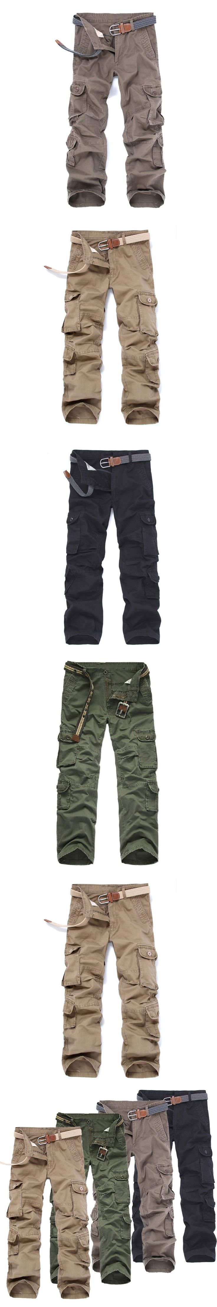 COCKCON Brand Military Army Camouflage Cargo Pants Plus Size Multi-pocket Overalls Trousers Straight Trousers Plus Size