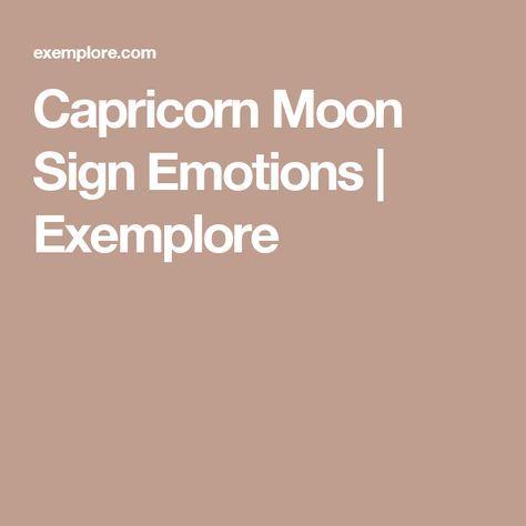 Capricorn Moon Sign Emotions | Exemplore