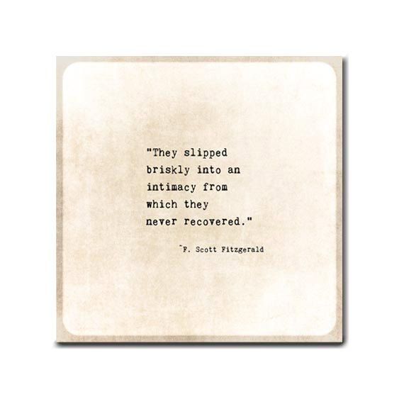 F Scott Fitzgerald Quote Intimacy Romance Typewriter Quote Golden Quote Typography Inspirational Quote Love Anniversary Print