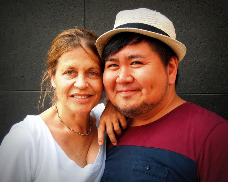 Linda Hamilton and me.