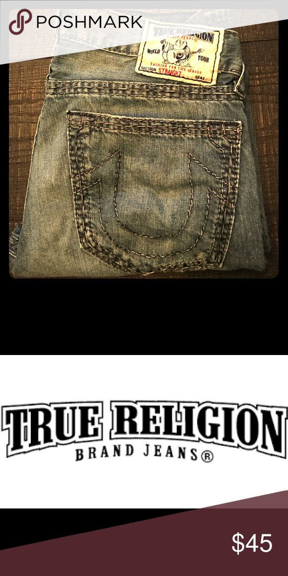 True Religion men's jeans True Religion Brand Jeans sell what they refer to as 'premium denim' which is handmade in America. True Religion Jeans Straight