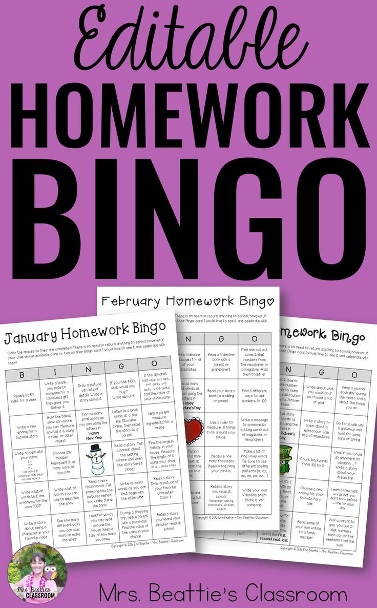 Looking for an easy-prep homework solution? Giving students the power of choice in their homework activities usually results in better engagement and this completely editable Homework Bingo package is just what you need! It includes simple ideas for engaging your students in literacy and math activities at home.