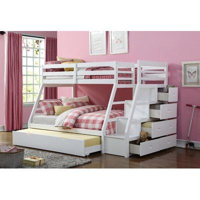 Viv Rae Reece Twin Over Full Bunk Bed With Trundle Bunk Beds