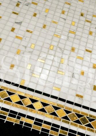 marble mosaic tile CLASSIC PLATINUM & GOLD SICIS