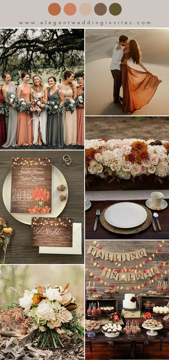 10 Chic Earth Tone Fall And Winter Wedding Color Combos Elegantweddinginvites Com Blog Winter Wedding Colors Fall Wedding Colors Wedding Color Schemes