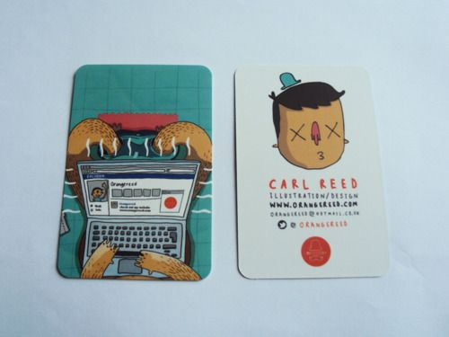 Carl Reed Illustrated Business Card