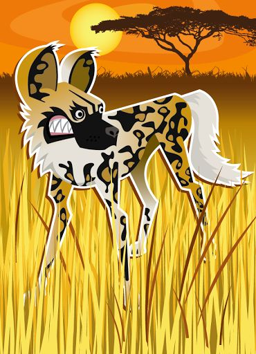 African Dog vector illustration designed by Paul Howalt for Kono magazine. #TactixCreative #africandog #graphicdesign