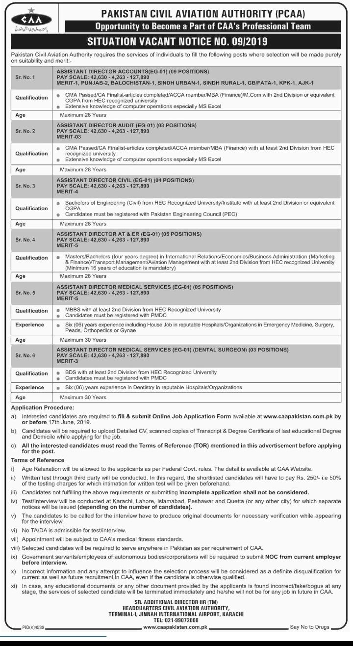 Latest Jobs For Assistant Director Medical And Others In Civil Aviation Authority June 2019 Jobs Position Detai Good Communication Skills Medical Services Job